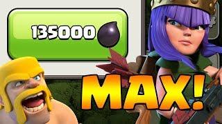 MAX QUEEN!  TH9 Dark Elixir Time | Clash of Clans
