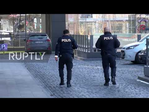 Turkey: Police Patrol Area Near Sputnik News Agency Office