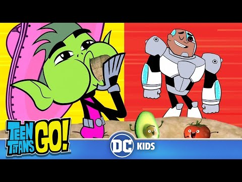 Teen Titans Go! KARAOKE | Burger vs. Burrito | DC Kids