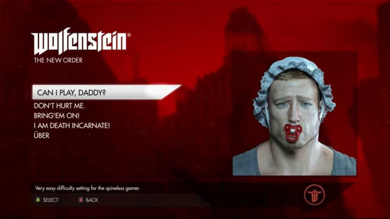 How To Cancel Uber >> Wolfenstein The New Order - Funny Difficulty Settings - YouTube