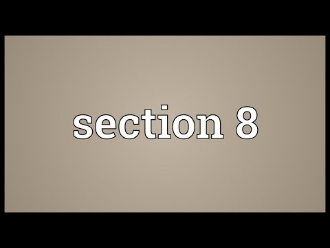Section 8 Meaning