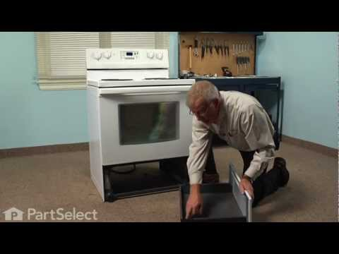 Range/Stove/Oven Repair- Replacing the Rear Drawer Glide (Whirlpool Part # 8053334)