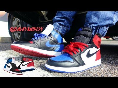 online store 52c1b 01b6d Nike Air Jordan 1 Top 3 On Foot - YouTube
