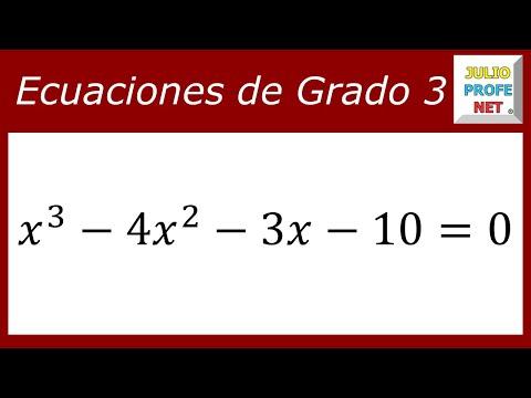 Ecuaciones De Tercer Grado Ejercicio 3 Youtube