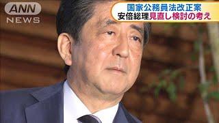 国家公務員法改正案 安倍総理見直し検討の考え(20/05/22)