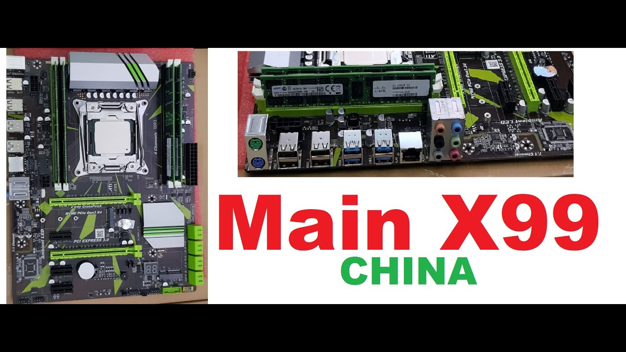 Mainboard X99 China | ZX-X99D3 | Main X99 CHINA DDR3 ECC REG