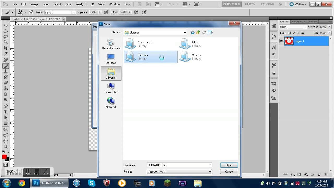 how to load brushes into photoshop cs5