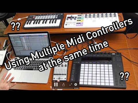Using Multiple Midi Controllers in Ableton Live - YouTube