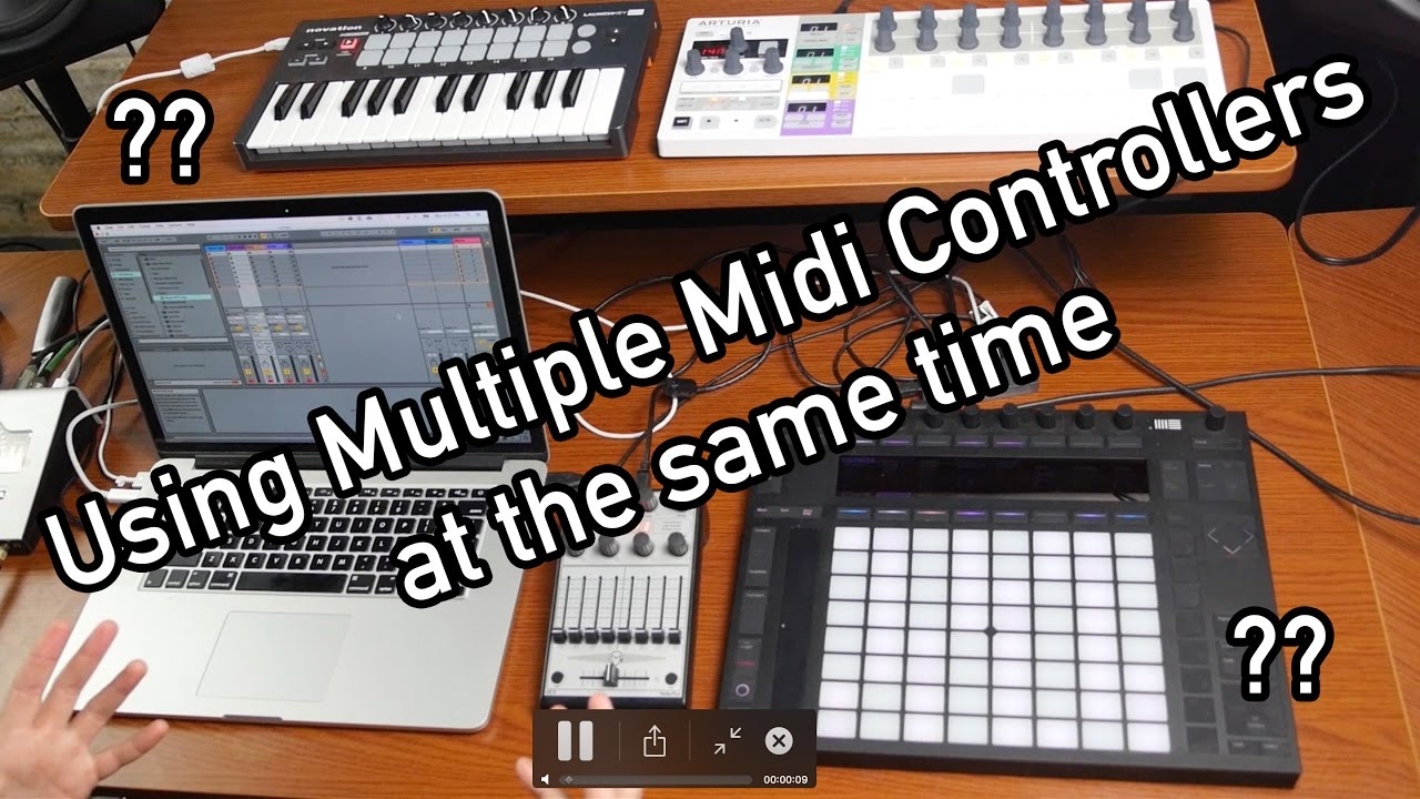 Using Multiple Midi Controllers in Ableton Live