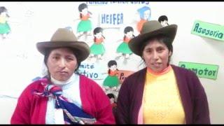 Promotoras de Ccorca (Cusco) mandan saludos por el Día Internacional de la Mujer