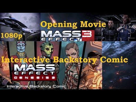 Mass Effect 3 WIIU : Genesis 2 Interactive Backstory Comic & Opening Movie 1080p
