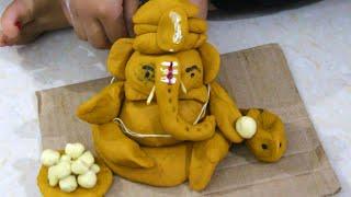 Eco Friendly Ganesh Making with Turmeric and Maida