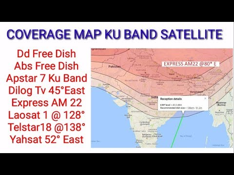 All India Satellite,s Coverage Map In 2 Feet Dish || पूरी जानकारी || With Footprint