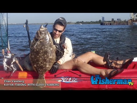Kayak fishing with elias vaisberg catch release for Elias v fishing