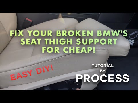 BMW E60 E61 Comfort Seat Thigh Support Repair Tutorial By PROCESS