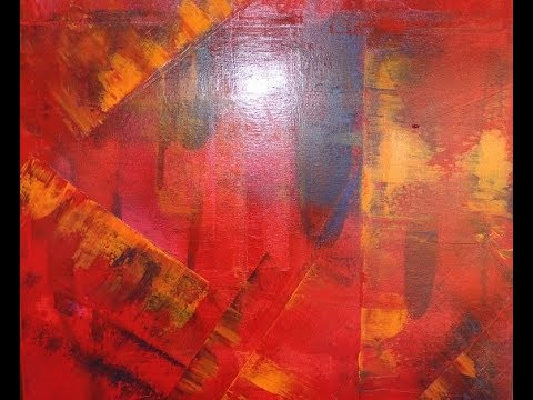 Acrylmalerei Modernes Abstraktes Acrylbild Zum Nachmalen