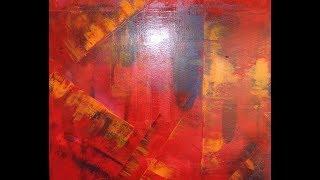 Acrylmalerei -  Modernes, abstraktes Acrylbild zum Nachmalen - Modern abstract acrylic painting