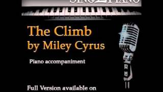 "MILEY CYRUS ""The Climb"" (Piano backing for your cover version/performance)"