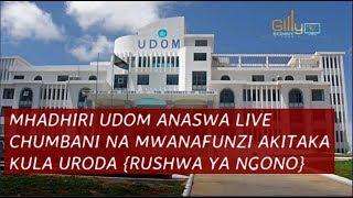 HII NDIO HABARI KUBWA ILIYOTUFIKIA ASUBUHI, MHADHIRI UDOM ADAKWA LIVE CHUMBANI NA MWANAFUNZI