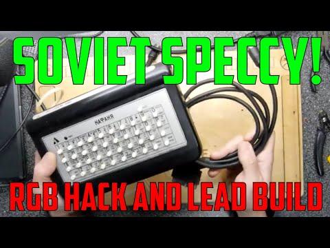 "Soviet Sinclair ZX Spectrum Clone RGB Modification And Build НПО ""Аксон"" Нафаня (Akson Nafanya)"