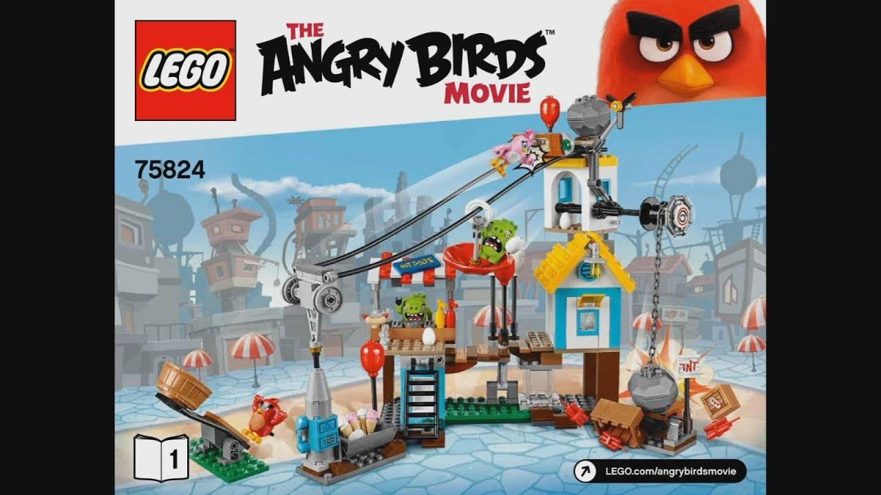 Lego Angry Birds 75824 Pig City Teardown Instruction Timelapse