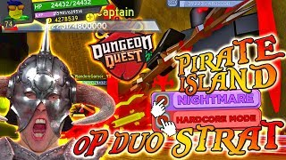 OP Build & Strat Guide DUO Pirate Nightmare Hardcore [PHYS & HEAL] ⚔️ Dungeon Quest ► Roblox PRO PC