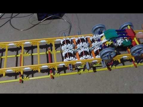 Homemade Electromagnetic Propulsion System MK1 - K'nex Classic Roller Coaster