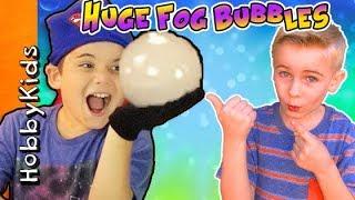 amazing fog bubbles surprise eggs w hobbyscience lab we make diy fun spongebob hobbykidstv