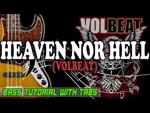 Volbeat - Heaven Nor Hell - BASS Tutorial [With Tabs] - Play Along