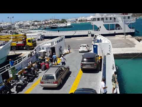 Loading the car ferry on Antiparos