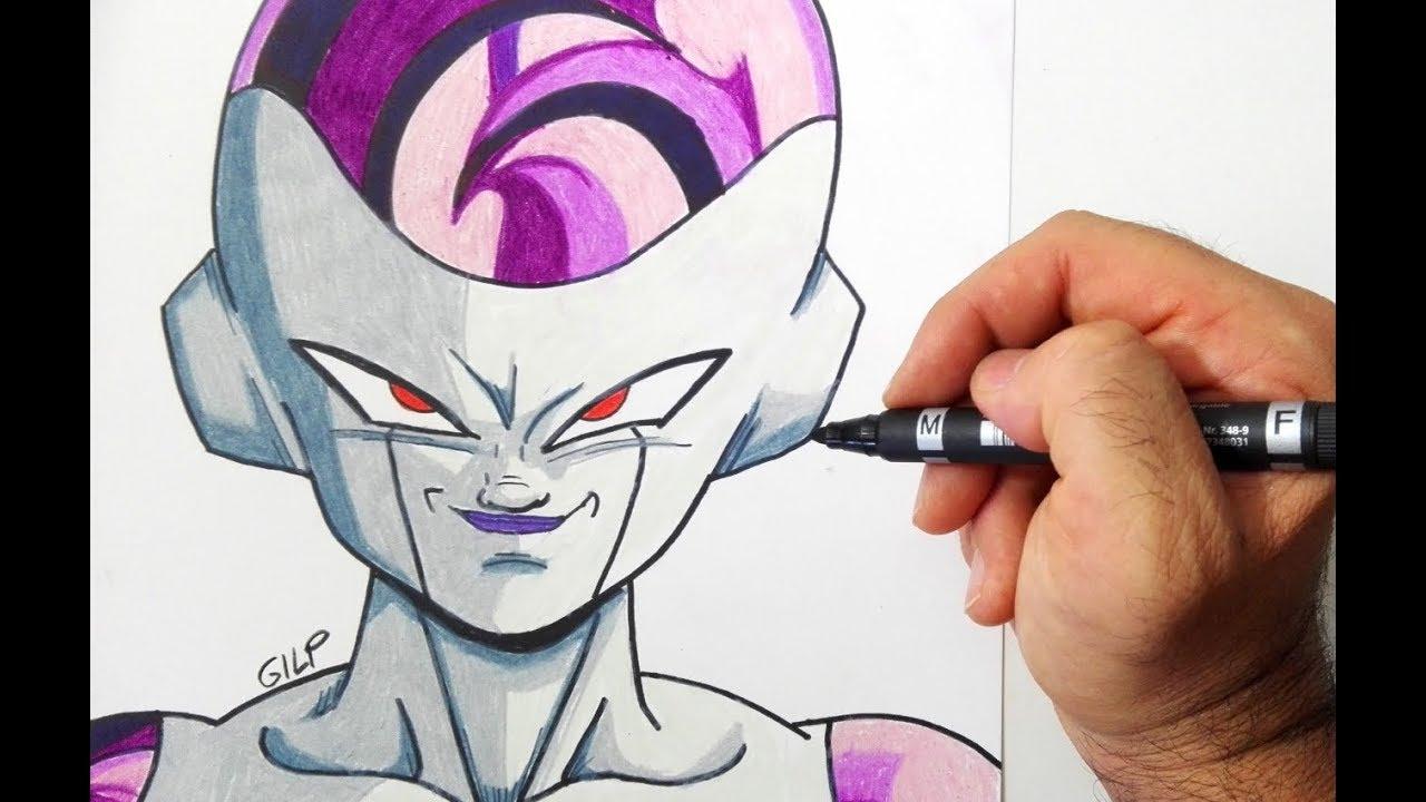Come Disegnare Freezer Di Dragon Ball Z Youtube