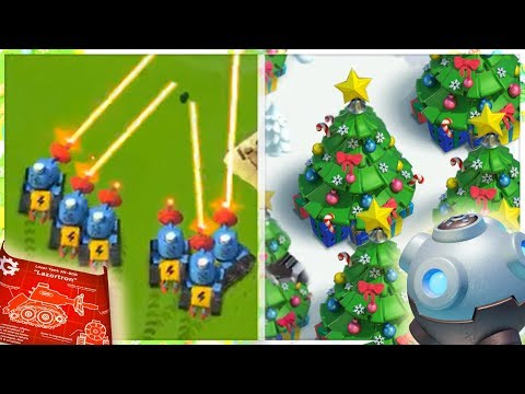 Boom Beach NEW WINTER UPDATE! Prototroops, Decorations, Lazortron, and More!