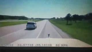 Motorist Brake-Checks A Trucker And Takes Off His License Plate