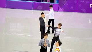 PyeongChang Olympic 6min practice2/16 Part1  Men SP Yuzuru Hanyu