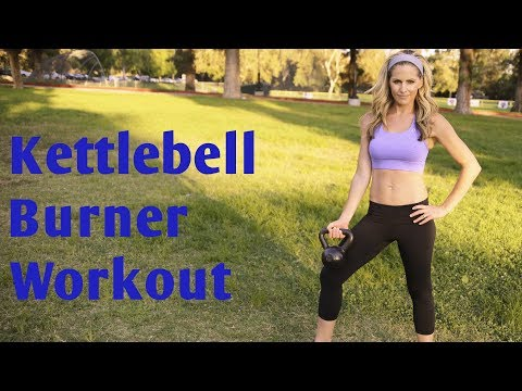 35 Minute Kettlebell Burner Workout for Total Body Strength & Cardio