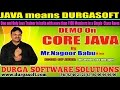 Core Java Training | CORE JAVA Demo by Nagoor Babu !!
