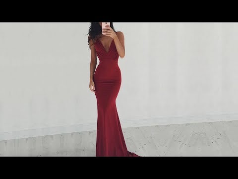 hot-trumpet/mermaid-v-neck-jersey-backless-long-prom-dresses-in-burgundy---millybridal.org