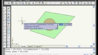 Autocad Tutorial - Area Calculation Command