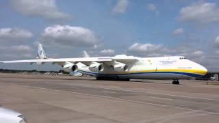 Antonov 225 engine startup Manchester Airport June2013