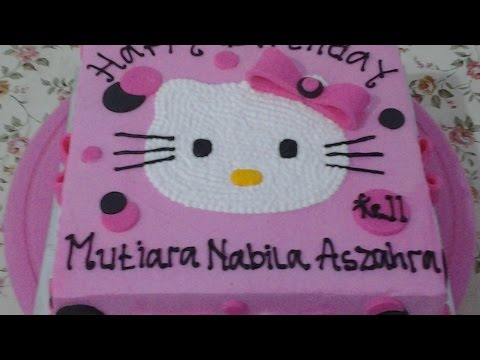 Hello Kitty Cake Ribbon Fondant How to Make Birthday Cake