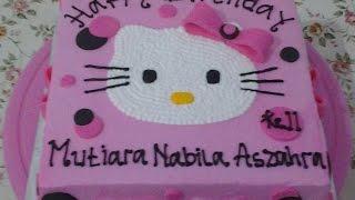 Hello Kitty Cake Ribbon Fondant How to Make Birthday Cake