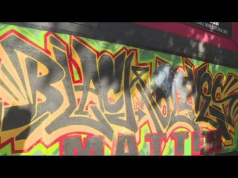 Black Lives Matter Mural In Sacramento Defaced Hate Crime Possible