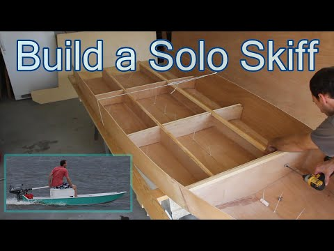 How to BUILD a BOAT in 50 HOURS!  How to Build a Microskiff for Beginners with Stitch and Glue