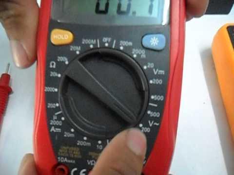 การใช้งานเบื้องต้น Digital Multimeter UNI-T