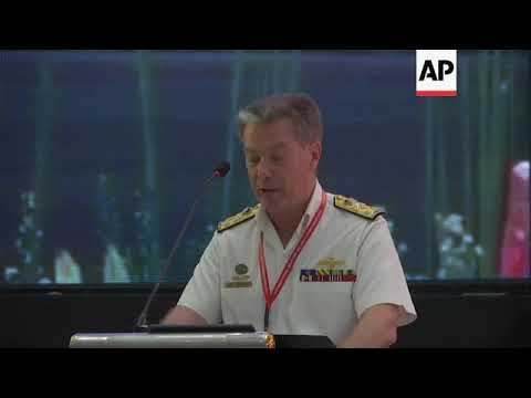 Navy commanders at maritime security symposium
