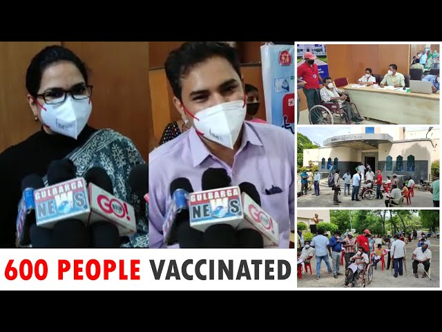 NEALY 600 DISABLE PERSONS AND THEIR FAMILIES VACCINATED AT TOWN HALL