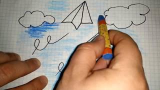 How to Draw an Airplane / Как нарисовать самолетик
