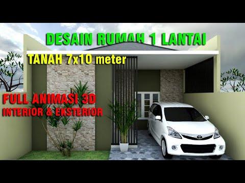 Desain Rumah Minimalis 7x10 Meter 2 Kamar Tidur Eps 004 Youtube