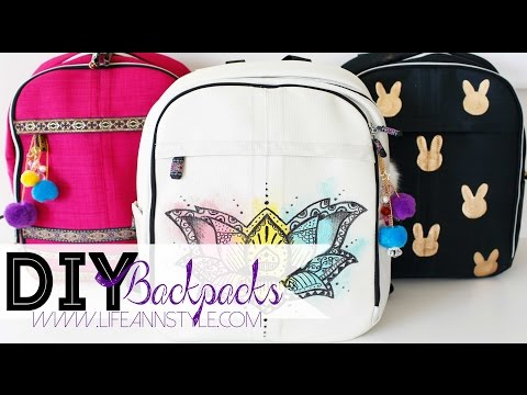 DIY EASY Backpack Makeover w/ Paint Markers | ANN LE