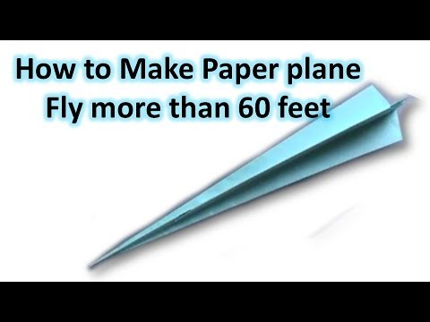 Pay to do paper airplanes that fly over 100 ft